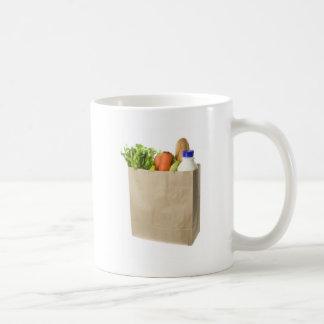 Bolsa de papel por completo de ultramarinos taza básica blanca