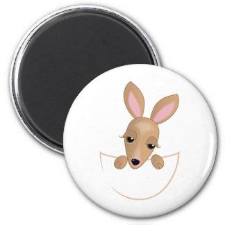 Bolsa del canguro imán redondo 5 cm