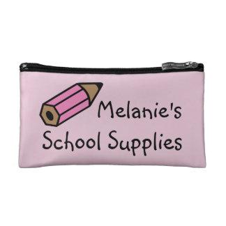 Bolsa del lápiz de las fuentes de escuela