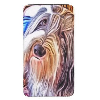 Bolsa del teléfono del perro de Beardie Funda Acolchada Para Galaxy S5