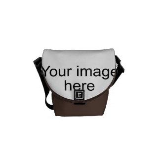 Bolsa modelo de encargo de plantilla en blanco bolsas de mensajeria