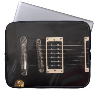 Bolsa negra del ordenador de la guitarra eléctrica manga portátil