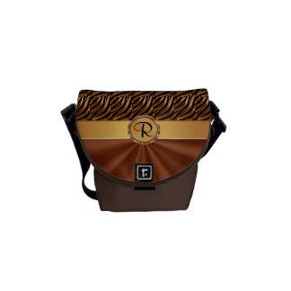 Bolsas de mensajero hermosas del monograma las min bolsas de mensajería