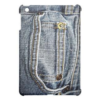 ¡Bolsillo azul del dril de algodón de Jean - perso
