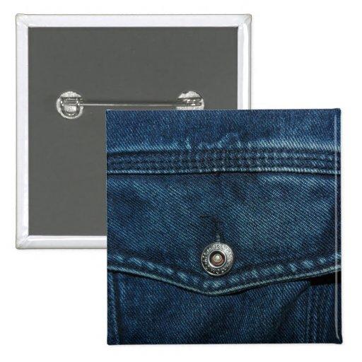 Bolsillo azul del dril de algodón pin