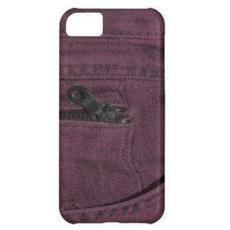 Bolsillo con cremallera rosado de Jean Funda Para iPhone 5C