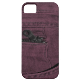 Bolsillo con cremallera rosado de Jean iPhone 5 Fundas
