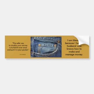 Bolsillo de alabanza pegatina de parachoque