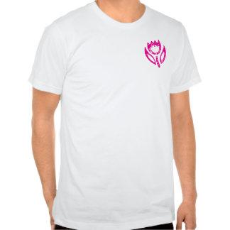 Bolsillo de la camisa del tulipán de las rosas