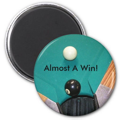 Bolsillo de la esquina de 8 bolas imán redondo 5 cm