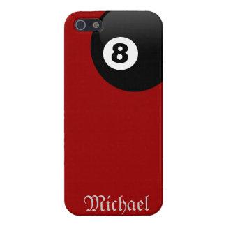 Bolsillo de la esquina de ocho bolas en la caja ro iPhone 5 carcasas