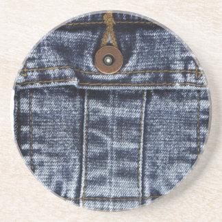 Bolsillo de los vaqueros del dril de algodón posavasos personalizados