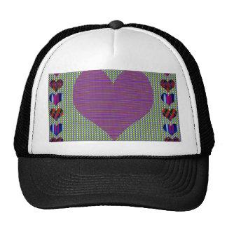 Bolsillo del corazón+impresión detrás+Frente de la Gorras