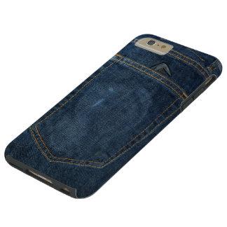 Bolsillo del dril de algodón de los tejanos funda para iPhone 6 plus tough
