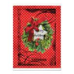 Bolsillo del navidad/tarjeta bendecidos felices invitación 12,7 x 17,8 cm