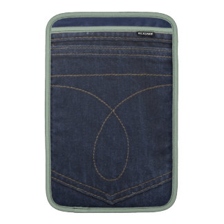 Bolsillo del tejano azul oscuro fundas macbook air
