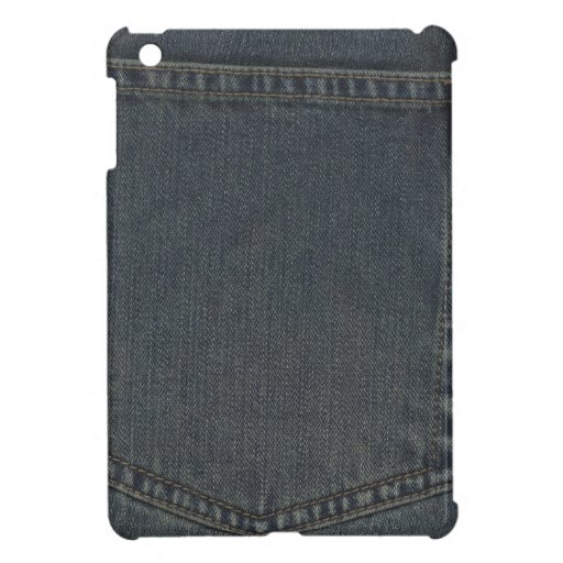 Bolsillo sucio del dril de algodón iPad mini funda