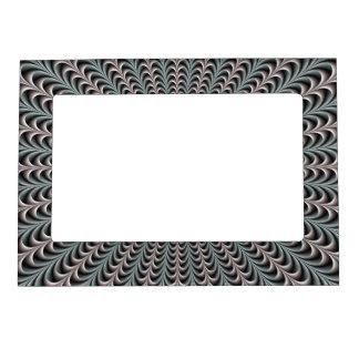 Bolsillos en el marco magnético azul y púrpura 5x7 marcos magneticos de fotos