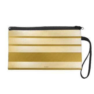 Bolsita con dragonne Gold bandas horizontales