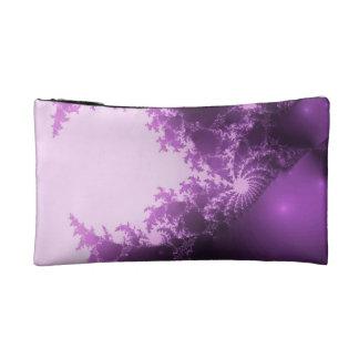 Bolsita de cosmético fractal lila rosa