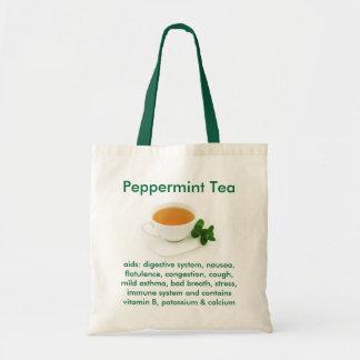 Bolsita de té de la hierbabuena bolsas