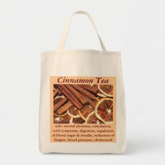 Bolsita de té del canela bolsa tela para la compra