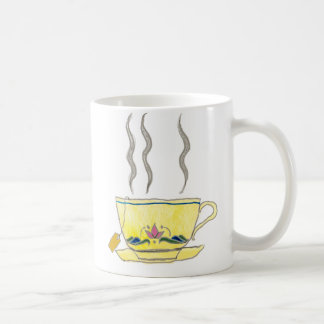 bolsita de té en una taza de té