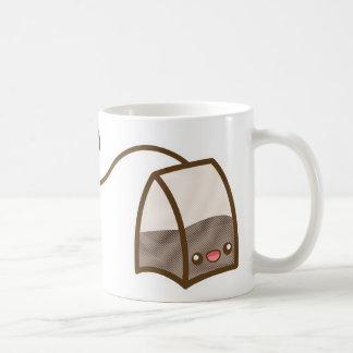 Bolsita de té feliz de Kawaii Taza Clásica