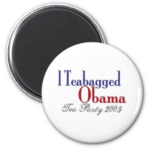 Bolsita de té Obama (fiesta del té 2009) Iman De Frigorífico