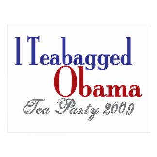 Bolsita de té Obama (fiesta del té 2009) Postal