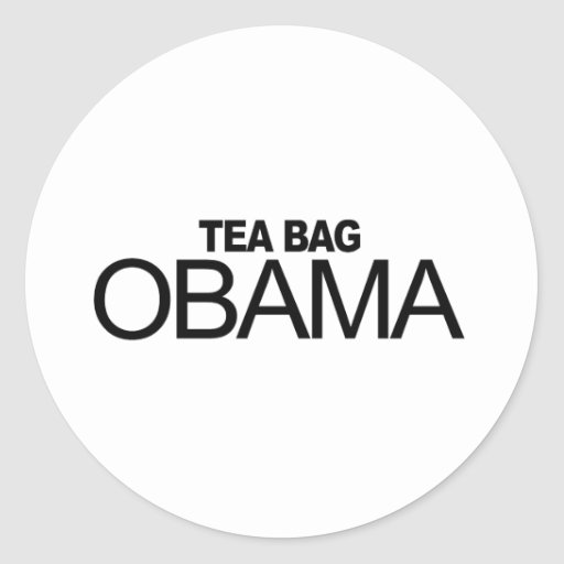 Bolsita de té Obama Pegatinas Redondas