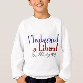Bolsita de té un liberal (fiesta del té 2009) sudadera