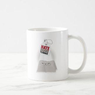 Bolsitas de té de la marca del odio taza de café