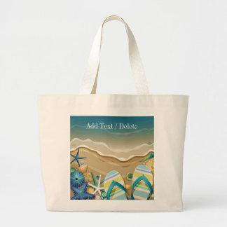 Bolso 1 - tote - SRF de la playa del flip-flop Bolsa Tela Grande