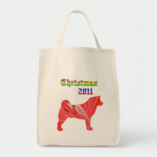 Bolso 2011 de Akita del navidad Bolsa Tela Para La Compra