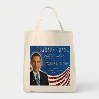 Bolso 2013 del recuerdo de la inauguración de Obam Bolsa Tela Para La Compra