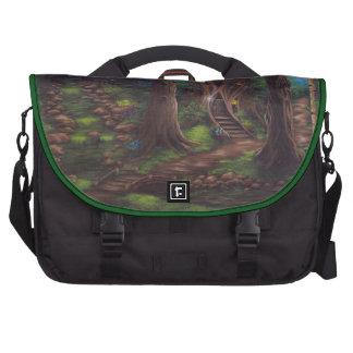 Bolso 2 del ordenador portátil del bosque del cuen bolsas de portatil