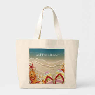 Bolso 2 - tote - SRF de la playa del flip-flop Bolsa Tela Grande