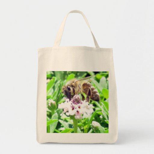 Bolso - abeja de la miel bolsa tela para la compra