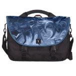 bolso abstracto azul del viajero bolsas para ordenador