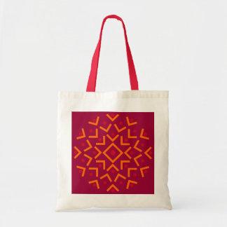 Bolso abstracto del círculo bolsa lienzo