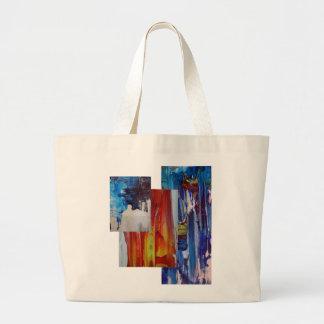 bolso abstracto del diseño de la pintura bolsa tela grande
