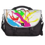 bolso abstracto del diseño de la pintura bolsas para portátil