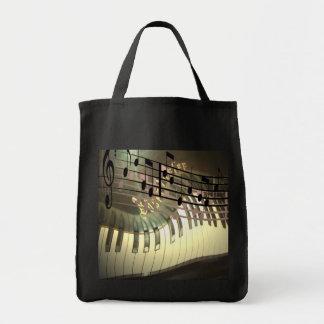 Bolso abstracto del piano bolsa tela para la compra