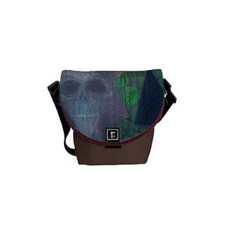 Bolso abstracto oscuro del cráneo bolsas de mensajería