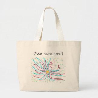 Bolso abstracto personalizado de la flor bolsas