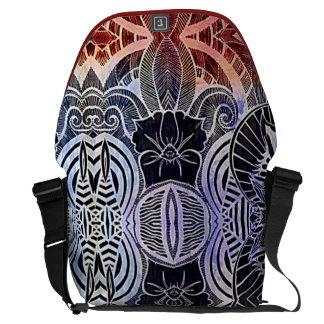 Bolso abstracto tribal exótico del ordenador bolsas messenger
