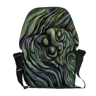 Bolso abstracto verde del mensajero bolsa messenger