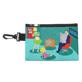 bolso accesorio con clip de la televisión clásica