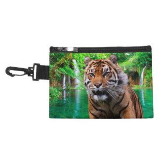 Bolso accesorio con clip del tigre